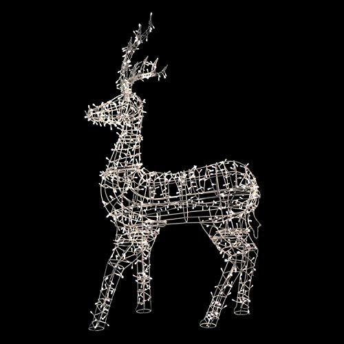 Northlight LED Lighted Standing Reindeer Outdoor Christma...