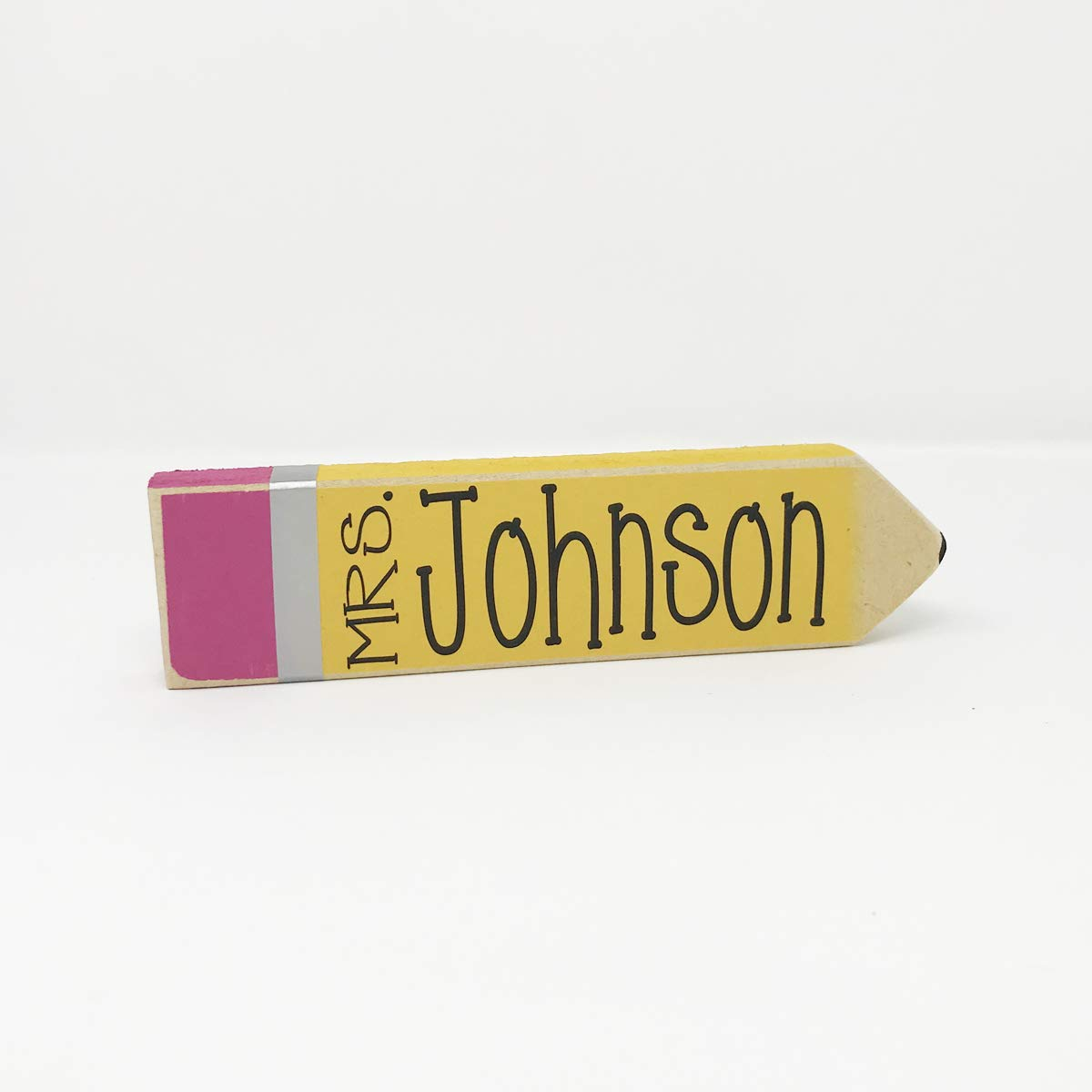 Personalized Teacher Pencil Sign