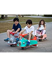 Nuby Twist N Ride Classic Car with Realistic Working Front and Back Lights, Fun Light-Up Wheels, And Music, 3 Years and Up, Green and Red