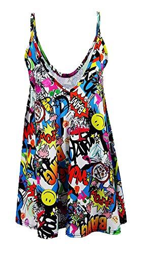 OgLuxe Imprimer Crane Swing Dress Tartan BANG Femmes Strap Boom Bang Rose qRrPqw6