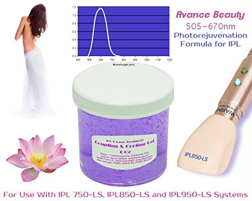 Photorejuvenation Formula 505-670nm Filter Cooling and Coupling Gel for Laser and IPL Machines, Systems, Devices by Biotechnique Avance