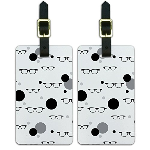 Graphics & More Luggage Suitcase Carry-on Id Tags-Funny Nerdy-Hipster Glasses, (Glass Luggage Tag)