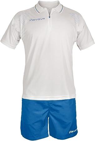 Givova, kit easy, blanco/azul, M