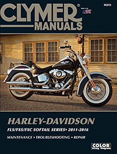 harley davidson fls fxs fxc softail series 2011 2016 clymer manuals rh amazon com Custom Heritage Softail Classic Gangster Harley Softail Classic
