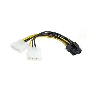 Dual Molex - Cable de alimentación de 4 Pines IDE a 8 Pines ...