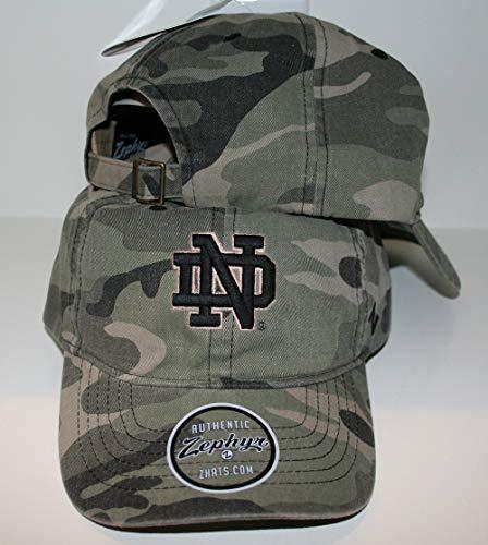 University of Notre Dame ND Fighting Irish Top Camo Hunting Washed Unstructed Maverick Adult Mens/Boys Adjustable Baseball -