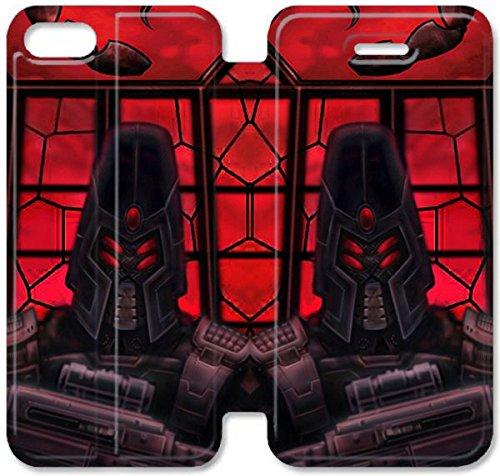 Flip étui en cuir PU Stand pour Coque iPhone 5 5S, bricolage 5 5S téléphone portable Commandement Coque Case And Conquer L4X4UT Coque iPhone Leather Coque Case plastique dur