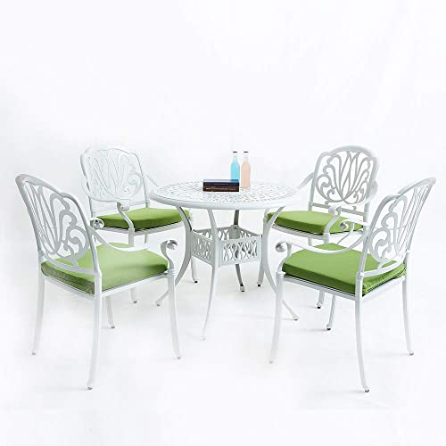 XICA Outdoor Furniture Patio Dining Table Chair Sets 5-Piece Cast Aluminum Garden Furniture