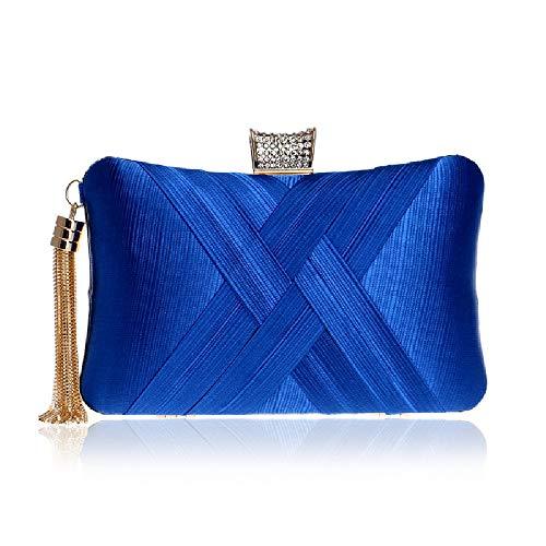 Pochette BESTWALED YHB454 doré Femme Or Bleu 7 pour OqFdpxrwq