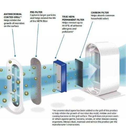Amazon.com: Claritin CAP531-U True HEPA Permanent Filter Tower Air ...