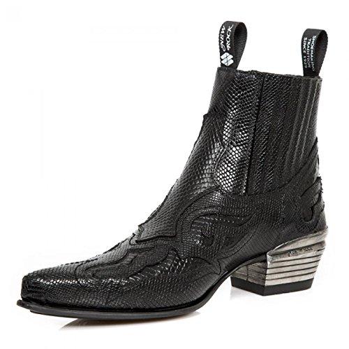 New Rock Boots M.wst048-s1 Urban Biker Hardrock Mens Stivaletti Neri