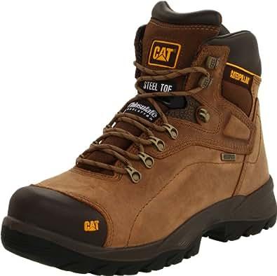Caterpillar Men's Diagnostic Steel-Toe Waterproof Boot,Dark Beige,7 M US