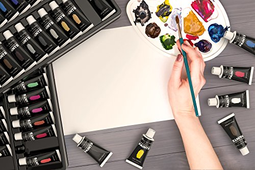Castle Art Supplies Acrylic Paint Set – 48 Vibrant Colors with Large 22ml Tubes for Extra Value. A Stunning Paint Set Full of Quality Paint That You'll Love to Work with!