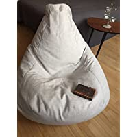 Natural Linen bean bag chair Scandinavian Interior Minimalist style Eco friendly beanbag for adults Simple design soft chair With Insert Filling is not included