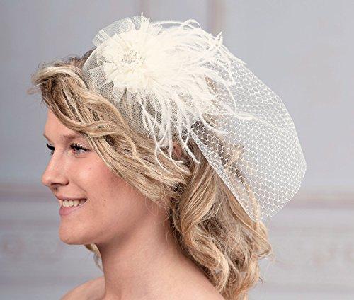 jl246 i vintage wedding feather birdcage veil