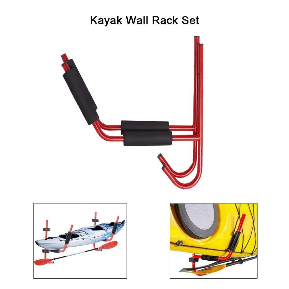 JSMeet Support de Rangement Mural pour Support de Kayak Support de Fixation pour cano/ë Assis sur Le Dessus