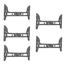 Neewer® 5-Pack Black Light-weight Carbon Fiber Gimbal Guards for DJI Phantom 3 Standard, Professional and Advanced