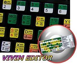 VI AND VIM EDITOR KEYBOARD STICKERS