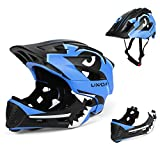 Explopur Kids Detachable Full Face Helmet Children Sports Safety Helmet for Cycling Skateboarding Roller Skating