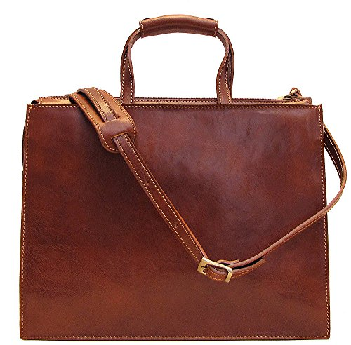 Floto Italian Leather Messenger Bag Briefcase - 8