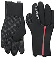 Craft Sportswear Neoprene Bike Cycling Training Warm and Water Protective Gloves: protective/riding/cooling/accessories/wicking/dry/fit/hand, Black/Bright Red, X-Large