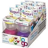 鍋に行く2ヨーグルトシステマセット - ベビーフード&軽食に理想的 - 色は変更になる場合 Sistema Set Of 2 Yoghurt To Go Pots - Ideal For Baby Food & Snacks - Colours Vary