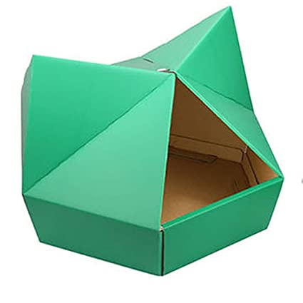 Amazon com : Green Gaia, Inc  Cardboard Indoor Cat House