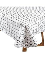 1-pack plastbordsduk engångs rektangel bordsskydd 137 cm x 70 tum för bord inomhus- eller utomhusfester födelsedagar bröllop jul