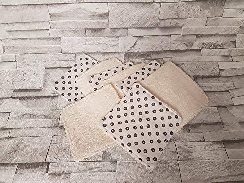Lot de 8 lingettes réutilisables A1 et lavables/lingettes démaquillantes et écologiques/carré à démaquiller