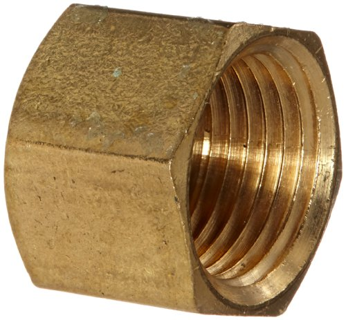 Brs Pipe Cap - Anderson Metals 56108 Brass Pipe Fitting, Cap, 3/8