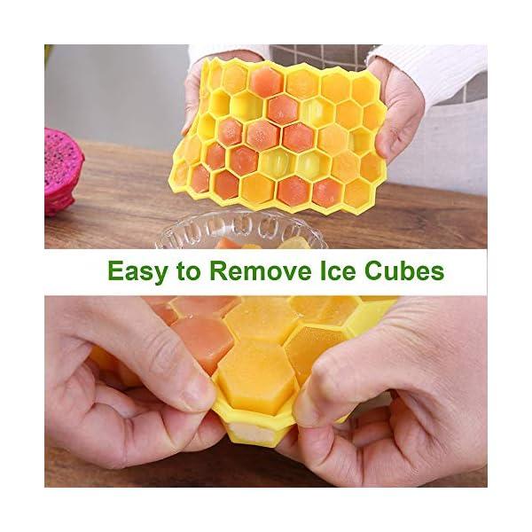 Vassoi per cubetti di ghiaccio Confezione da 2 stampi per cubetti di ghiaccio in silicone per alimenti con coperchio… 4 spesavip
