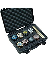 Case Club Waterproof 8 Watch Travel Case with Accessory Pocket