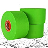 IMPACT Athletic Tapes – Athletic Tape 1.5'' x 15 yards (3 PACK) 50/50 Blend Polyester & Cotton for Durability - 100% All Natural Rubber Adhesive – Hypoallergenic - Trainers Tape (Neon Green)