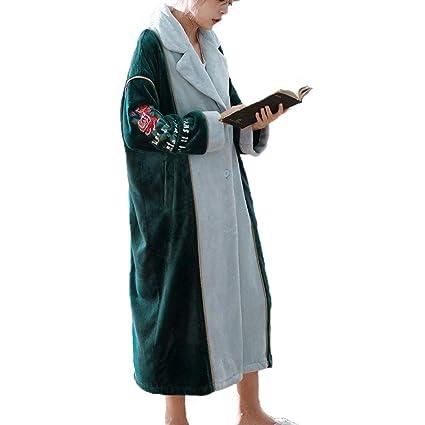Albornoz De Botón De Bata De Mujer para Mujer Abrigo De Casa Suave (Color :