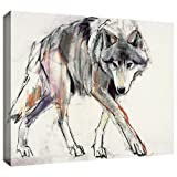 ArtWall Mark Adlington 'Wolf' Gallery Wrapped Canvas Artwork, 36 by 48-Inch