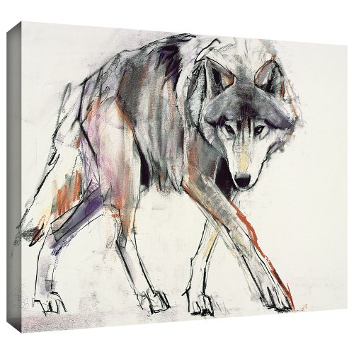 ArtWall Mark Adlington 'Wolf' Gallery Wrapped Canvas Artwork, 24 by 32-Inch