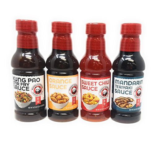 Panda Express Sauce Variety Bundle, 18.75 oz-20.75 oz (Pack of 4) includes 1-Bottle Sweet Chile Sauce, Mandarin Teriyaki Sauce, Orange Sauce, Kung Pao Sauce