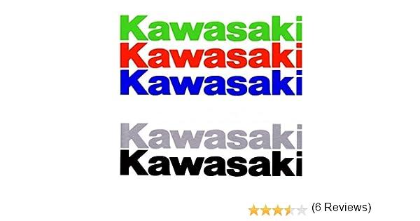 ALOBA Kit 2//4//6 pegatinas Vinilo KAWASAKI 20CM varios colores disponibles especial rotulacion con papel transportador incluido