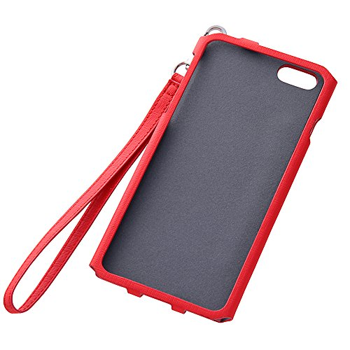 Colorful Strap Type Leather Case for iPhone 6 Plus (Red)