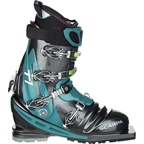 (SCARPA T1 Telemark Boot Anthracite/Teal, 28.5)