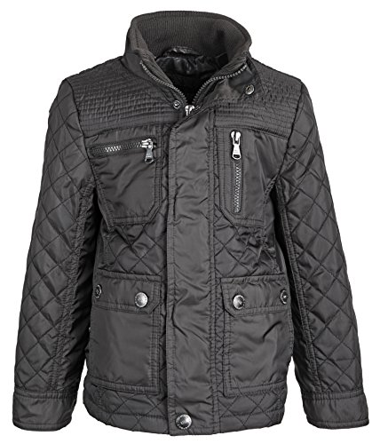 Urban Republic Boys Lightweight Padded Diamond Quilted Spring Rain Jacket - Charcoal (Size 5/6) (Thumbs Up Rain Boots compare prices)