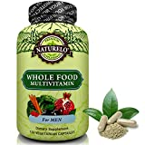 NATURELO Whole Food Multivitamin for Men - #1 Ranked - with Natural Vitamins, Minerals, Antioxidants, Organic Extracts - Vegan & Vegetarian - Best for Energy, Brain, Heart & Eye Health - 120 Capsules