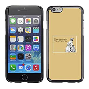 Qstar Arte & diseño plástico duro Fundas Cover Cubre Hard Case Cover para Apple (5.5 inches !!!) iPhone 6 Plus ( Funny Quote Work Sexual Coworker Women Men)