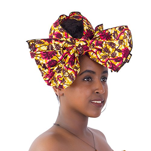 FANS FACE Traditional African Headwrap Headtie Nigerian Scarf Headwear Lots Colors Available by FANS FACE