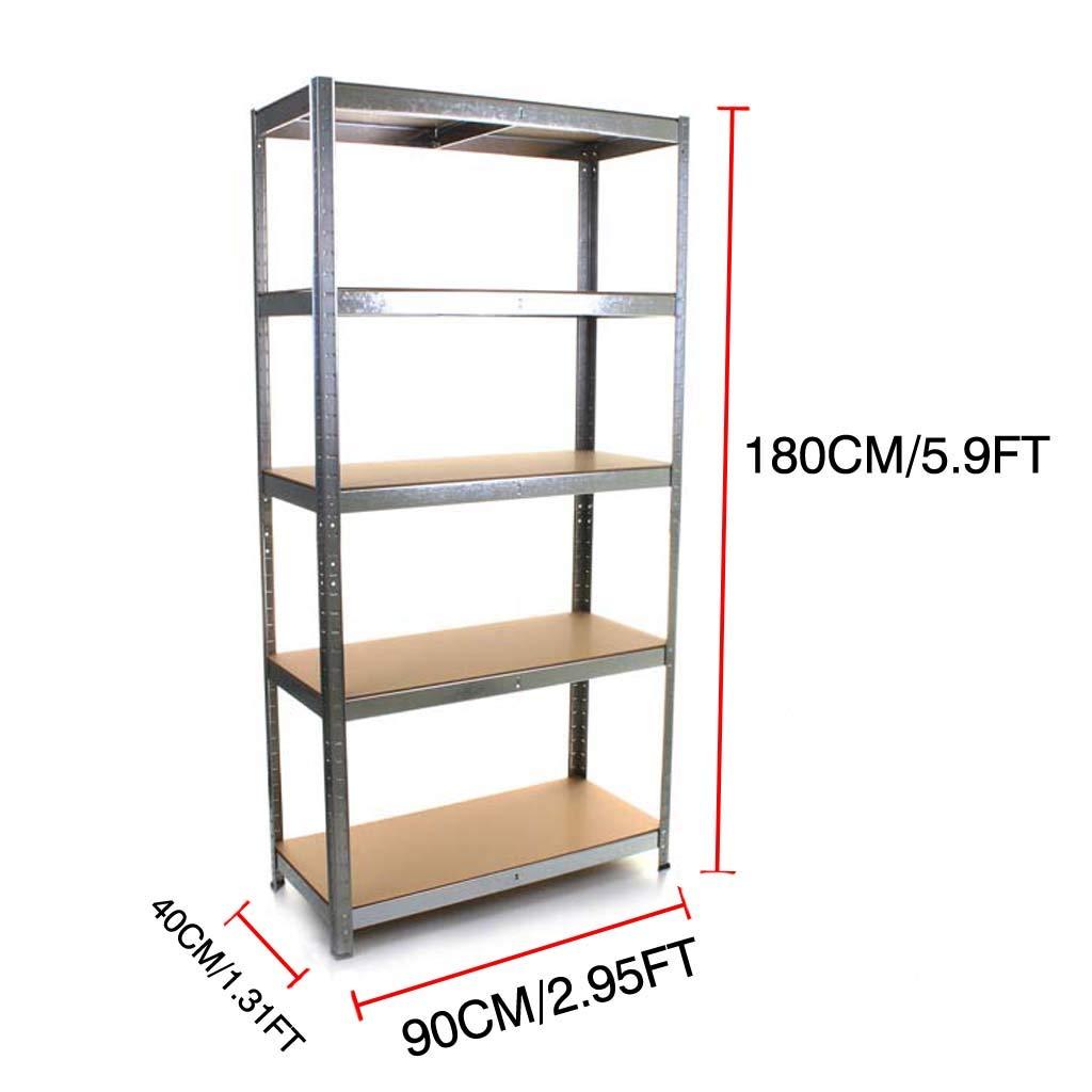 180/cm x 90/cm x 40/cm en acier et MDF Boulons /étag/ères galvanis/é 5/niveaux Garage /étag/ères Etag/ère Heavy Duty /étag/ère de rangement 175/kg par /étag/ère Capacit/&e