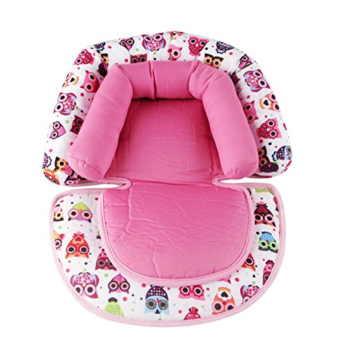Infant Head Support for Car Seat, KAKIBLIN Baby Soft Neck Support Pillow, Pink ()