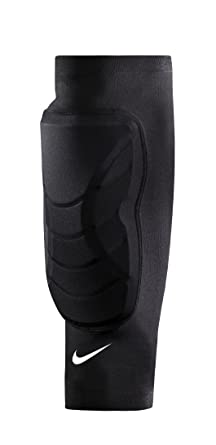 Amazoncom Nike Hyperstrong Padded Shin Sleeves Blackwhite Size