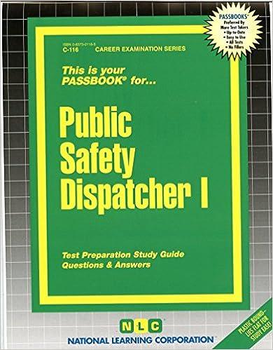 Public Safety Dispatcher 1 Career Examination Passbooks