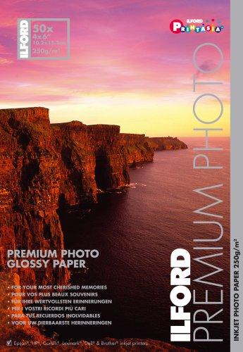 Ilford Premium Gloss 4 x 6 Inch Photo Paper 50 Sheets (1146567)