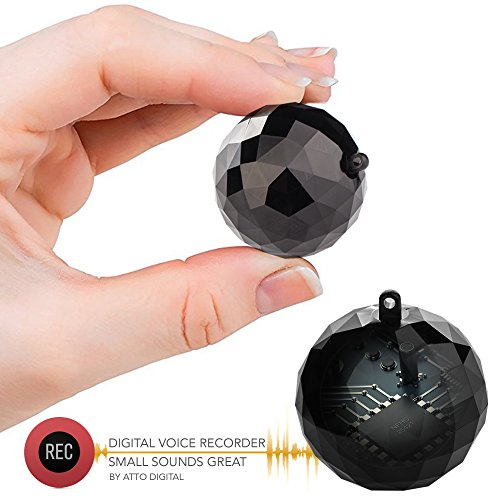 Digital Voice Activated Recorder - GolfBall Size Keychain with 132 Hours...